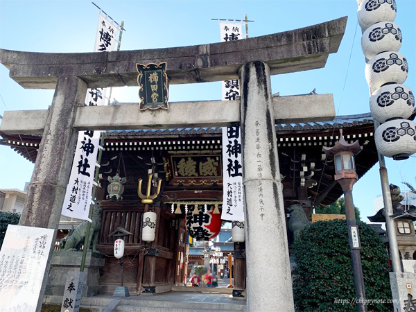 櫛田神社・鳥居
