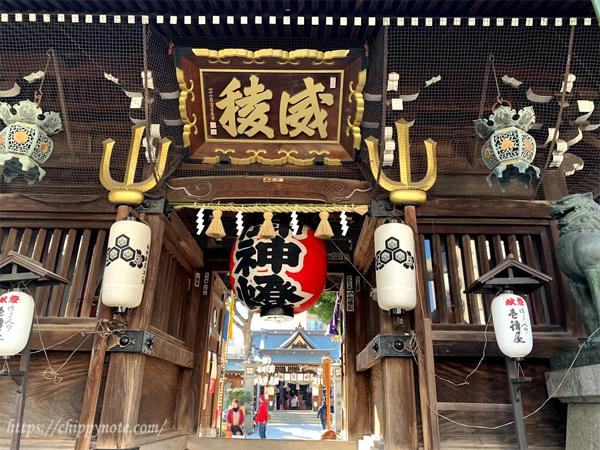 櫛田神社・楼門