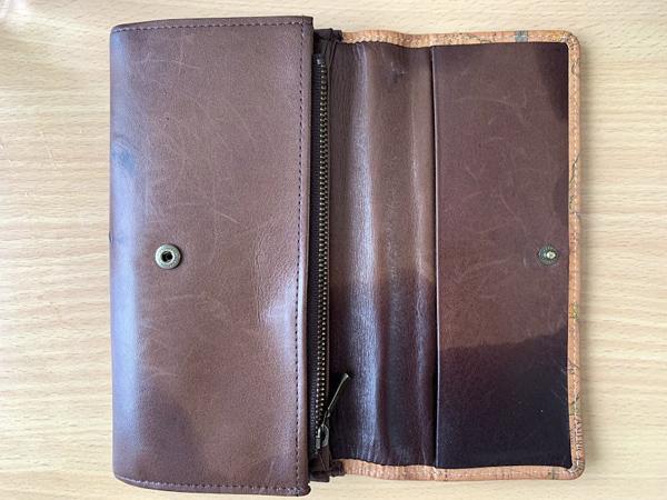 水濡れした財布・内側