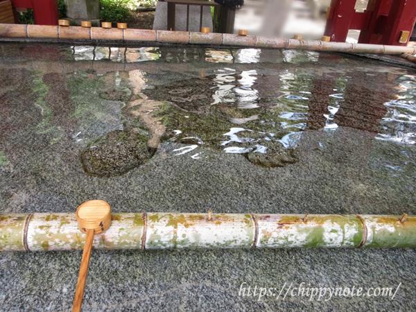 手水舎の亀