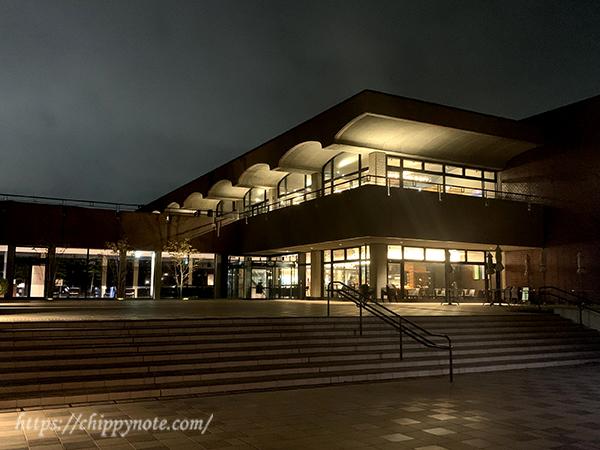ライトアップされた福岡市美術館
