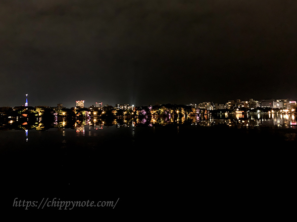大濠公園夜景・福岡タワー