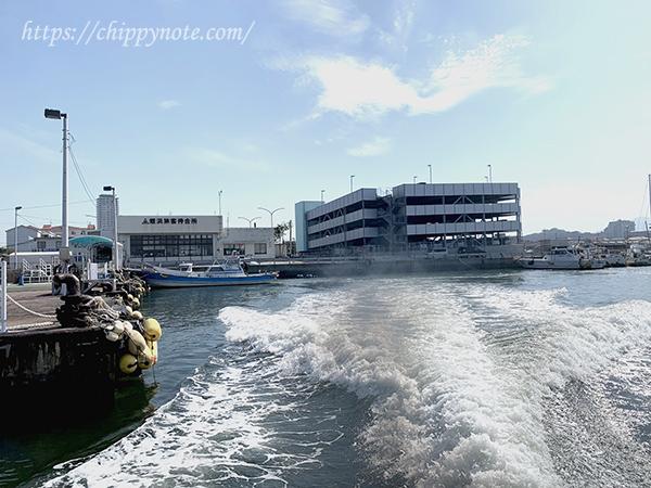 海上タクシーからの眺め